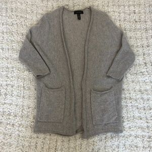 Halogen Batwing Grey Cashmere Cardigan